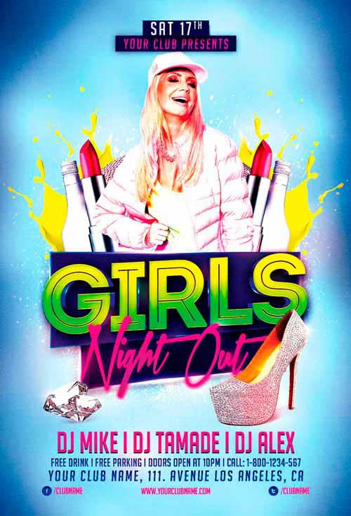 Girls Night Out Free Flyer Template