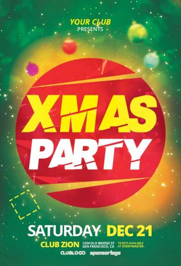 Free X-Mas Party Flyer Template